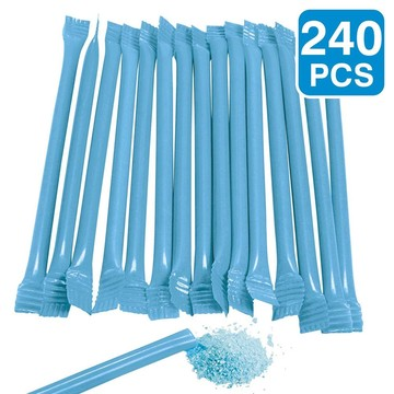 """Blue Candy Filled 6"""" Straws (240 Pack)"""