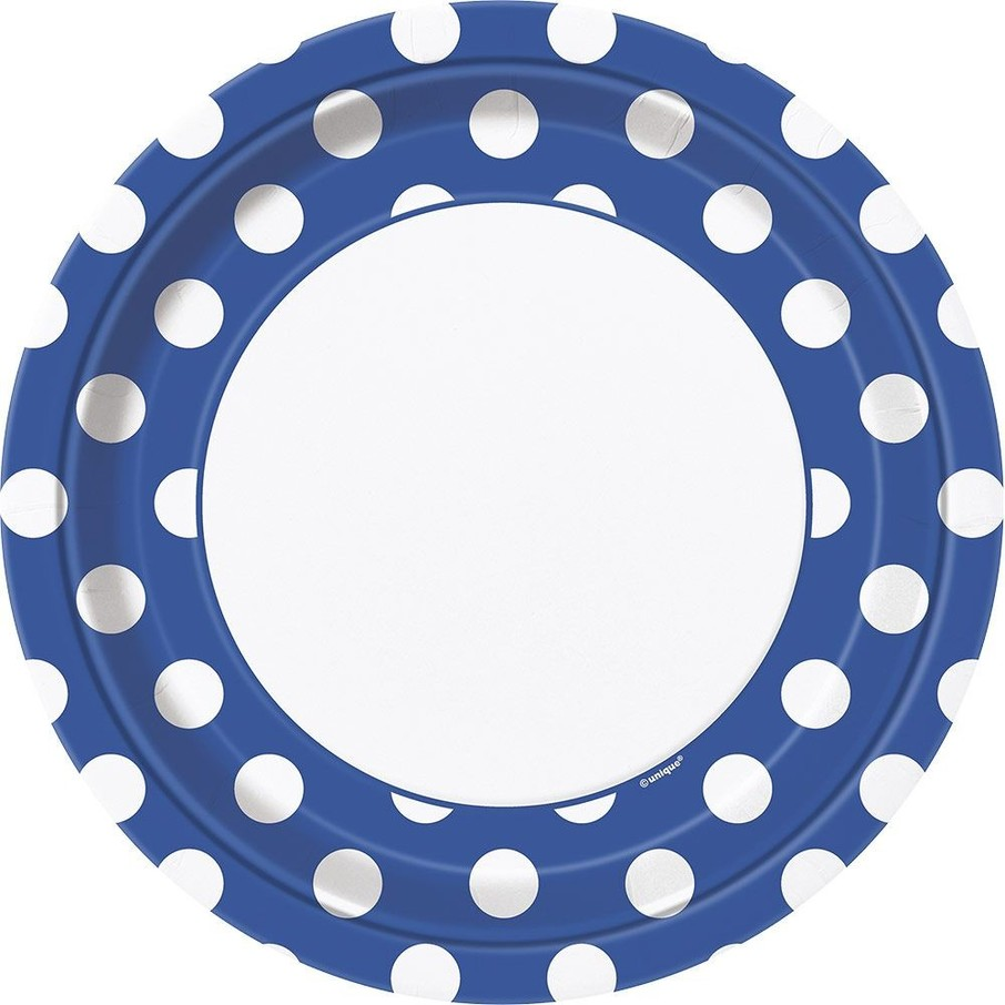"""View larger image of Blue Dots 9"""" Luncheon Plates (8 Pack)"""