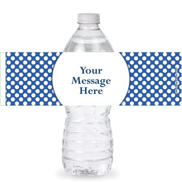 Blue Dots Personalized Bottle Labels (Sheet of 4)