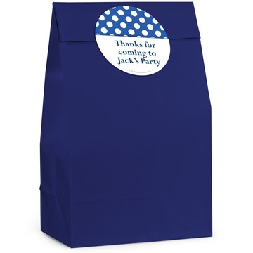 Blue Dots Personalized Favor Bag (12 Pack)