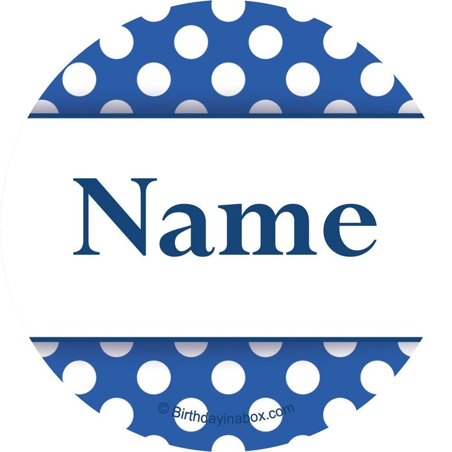 View larger image of Blue Dots Personalized Mini Stickers (Sheet of 24)