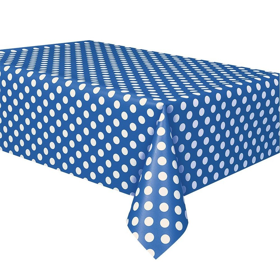 View larger image of Blue Dots Table Cover (Each)