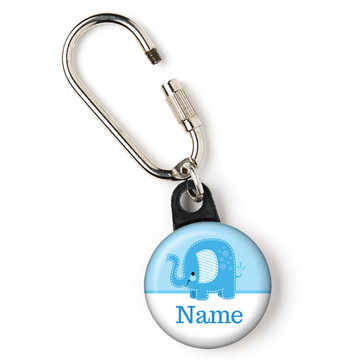 "Blue Elephant Personalized 1"" Carabiner (Each)"
