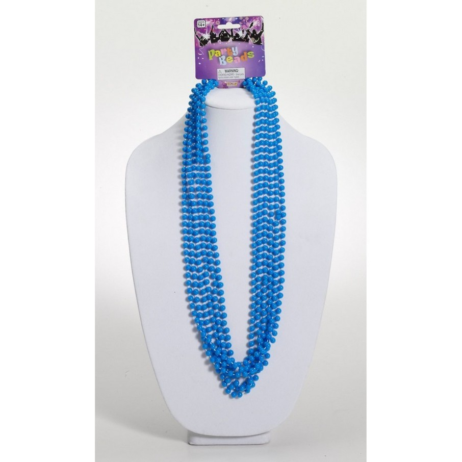 View larger image of Blue Festive Party Beads (6 Count)