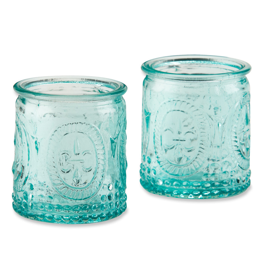 View larger image of Blue Glass Tealight Holder (Set of 4)