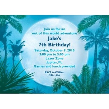 Blue Planet Personalized Invitation (each)