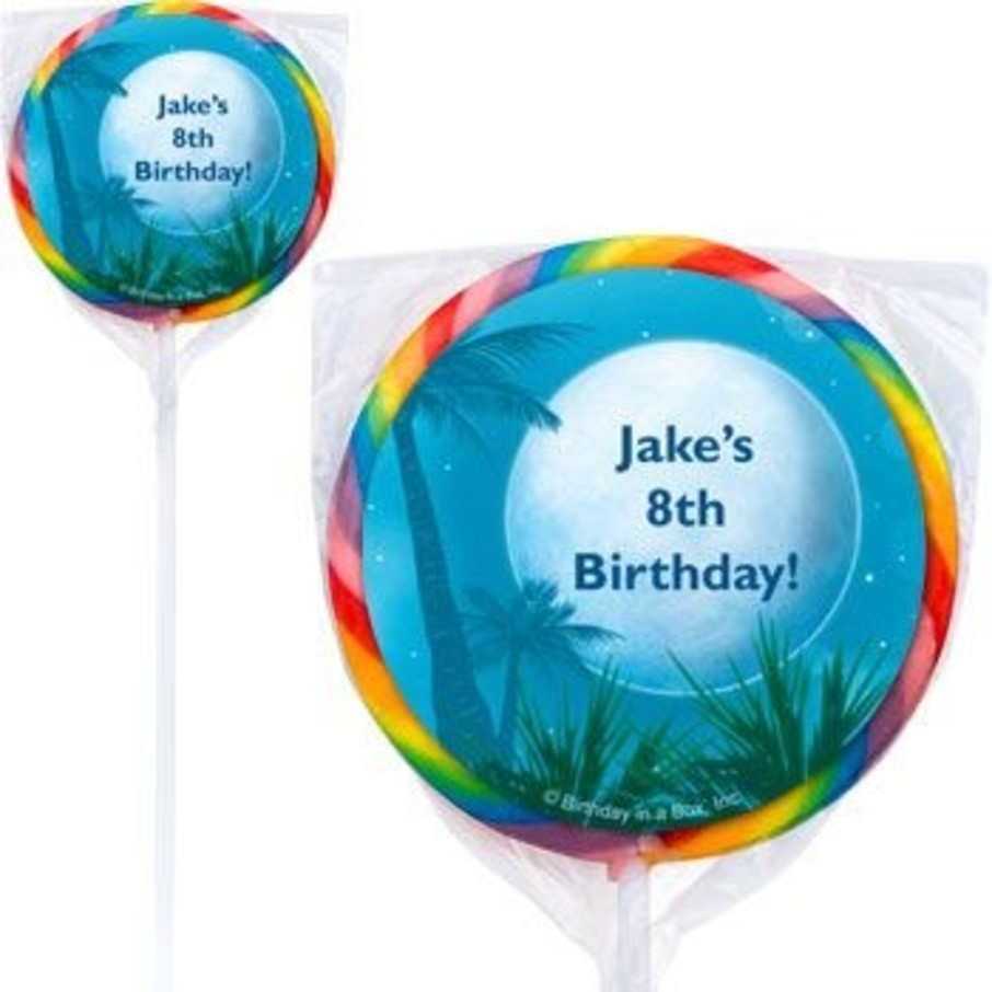 View larger image of Blue Planet Personalized Lollipops (pack of 12)