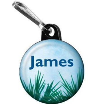 Blue Planet Personalized Mini Zipper Pull (each)