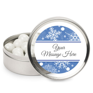 Blue Snowflake Personalized Mint Tins (12 Pack)