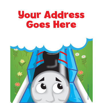 Blue Tank Engine Personalized Address Labels (Sheet of 15)