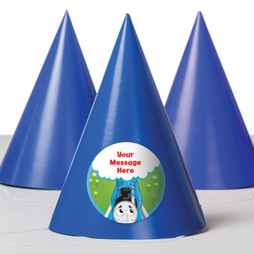 Blue Tank Engine Personalized Party Hats (8 Count)