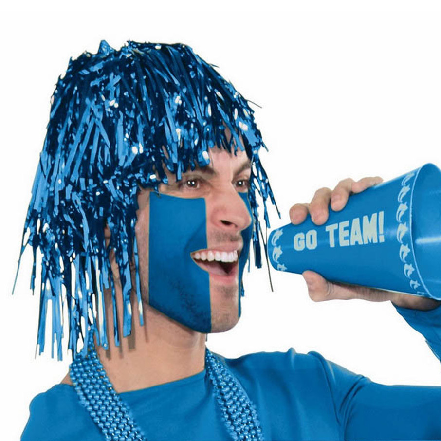 View larger image of Blue Tinsle Wig