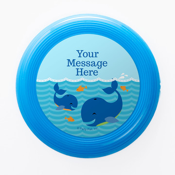 Blue Whale Personalized Mini Discs (Set of 12)