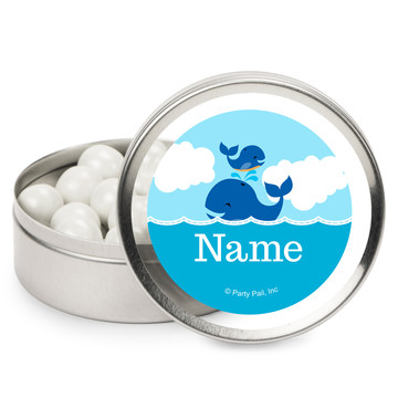 Blue Whale Personalized Mint Tins (12 Pack)
