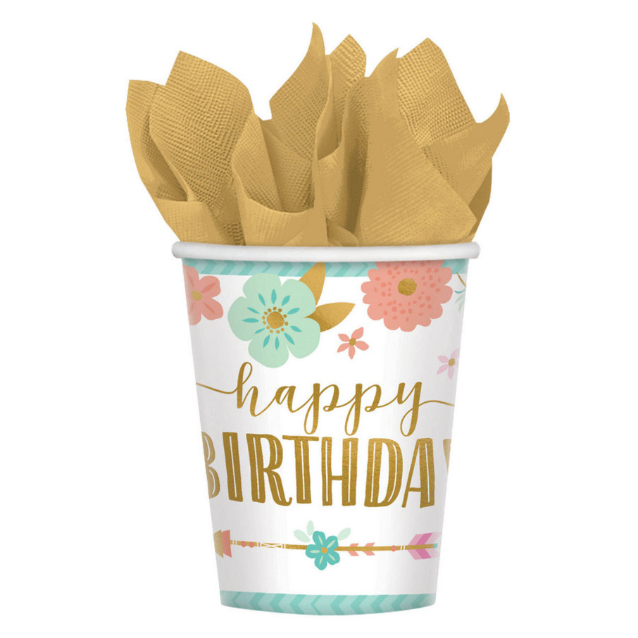 View larger image of Boho Birthday Girl Cup 9 Oz (8)