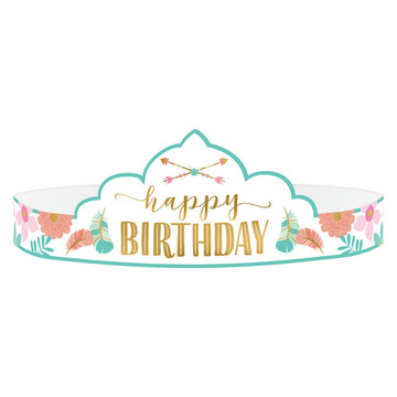 Boho Birthday Girl Paper Tiaras (8)