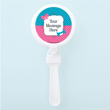 Bow or Bowtie Gender Reveal Personalized Clappers (Set of 12)