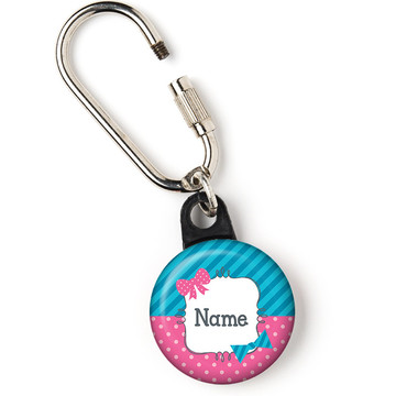"""Bow or Bowtie Gender Reveal Personalized 1"""" Carabiner (Each)"""