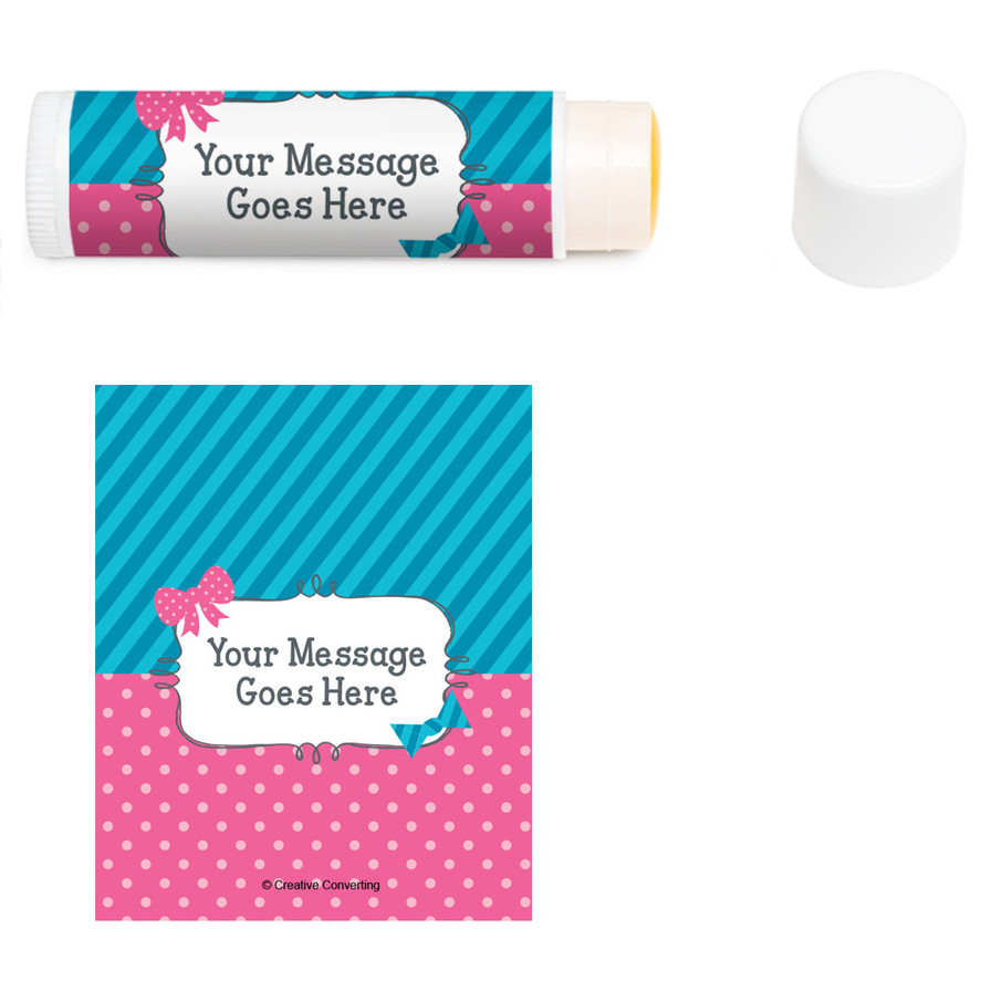View larger image of Bow or Bowtie Gender Reveal Personalized Lip Balm (12 Pack)