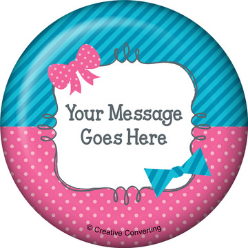 Bow or Bowtie Gender Reveal Personalized Magnet (Each)