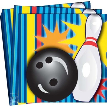 Bowling Beverage Napkins (16 Pack)