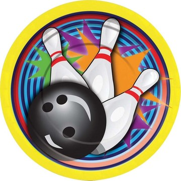 Bowling Cake Plate (8 Pack)