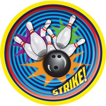 Bowling Luncheon Plate (8 Pack)