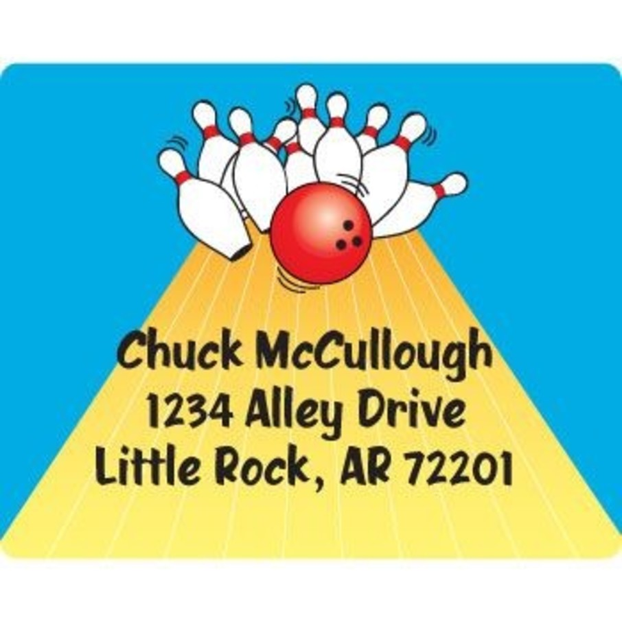 View larger image of Bowling Personalized Address Labels (sheet of 15)