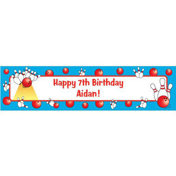 Bowling Personalized Banner (each)
