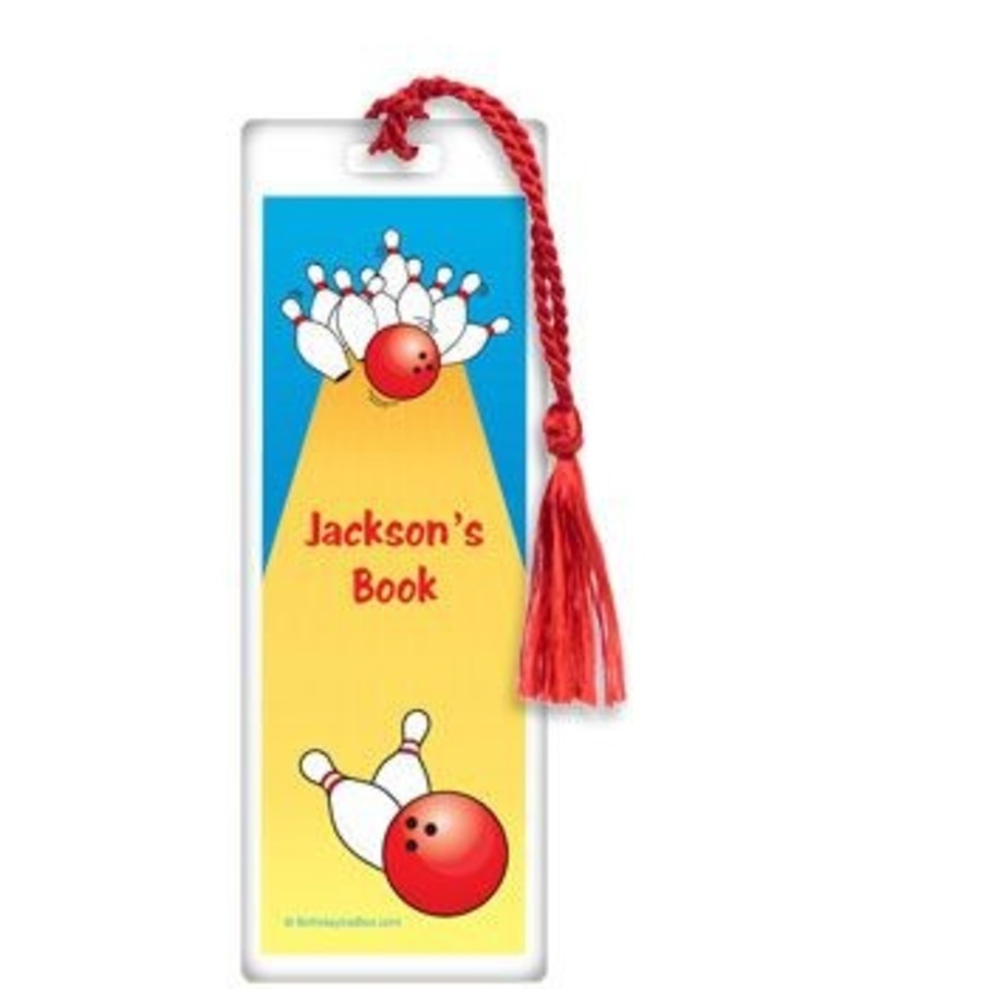 View larger image of Bowling Personalized Bookmark (each)