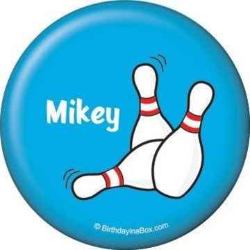 Bowling Personalized Button (each)
