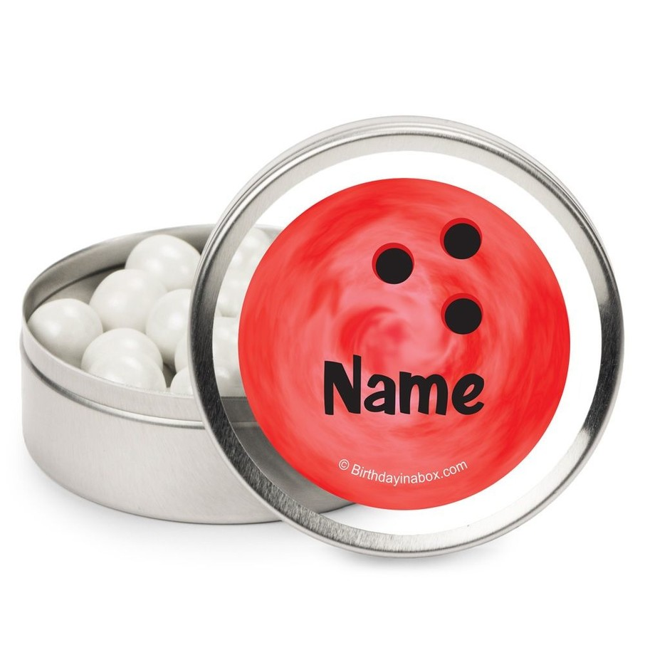 View larger image of Bowling Personalized Candy Tins (12 Pack)