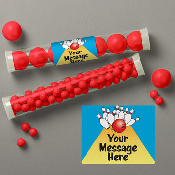 Bowling Personalized Candy Tubes (12 Count)