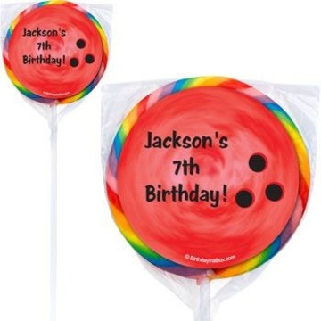 Bowling Personalized Lollipops (pack of 12)