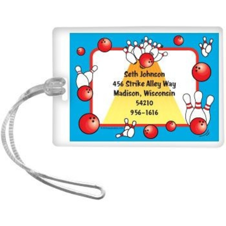 View larger image of Bowling Personalized Luggage Tag (each)