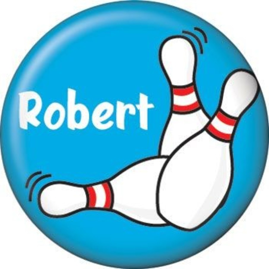 View larger image of Bowling Personalized Mini Button (each)