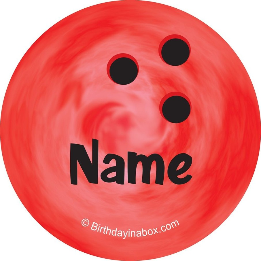 View larger image of Bowling Personalized Mini Stickers (Sheet of 24)