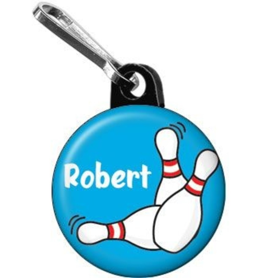 View larger image of Bowling Personalized Mini Zipper Pull (each)