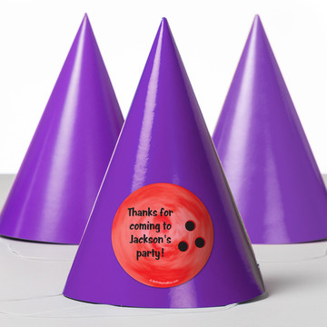 Bowling Personalized Party Hats (8 Count)