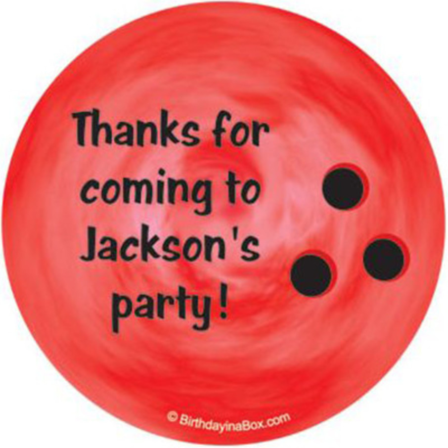 View larger image of Bowling Personalized Stickers (sheet of 12)