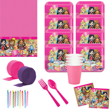 Boxy Girls Deluxe Tableware Kit (Serves 8)