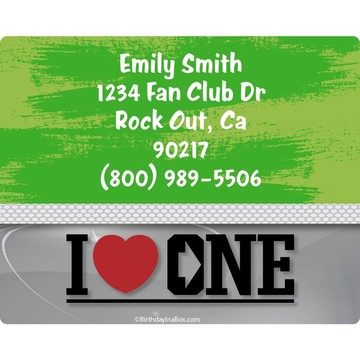 Boy Band Personalized Address Labels (Sheet of 15)