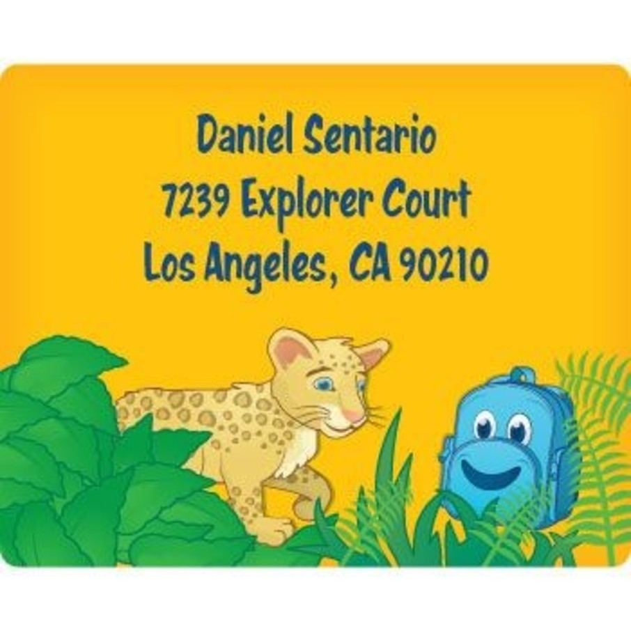 View larger image of Boy Explorer Personalized Address Labels (sheet of 15)