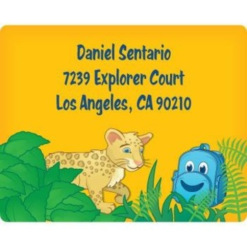 Boy Explorer Personalized Address Labels (sheet of 15)
