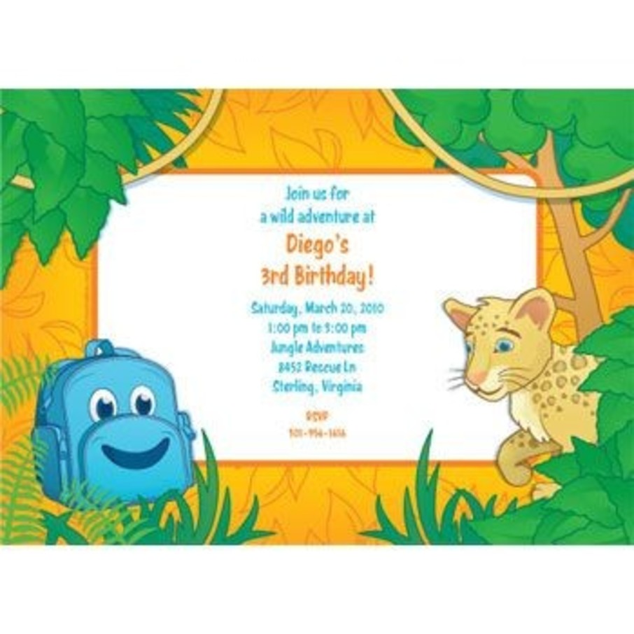 View larger image of Boy Explorer Personalized Invitation (each)