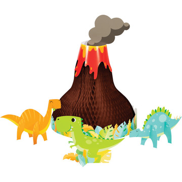 Boys Dino-Roar Volcano Scene Centerpiece Kit