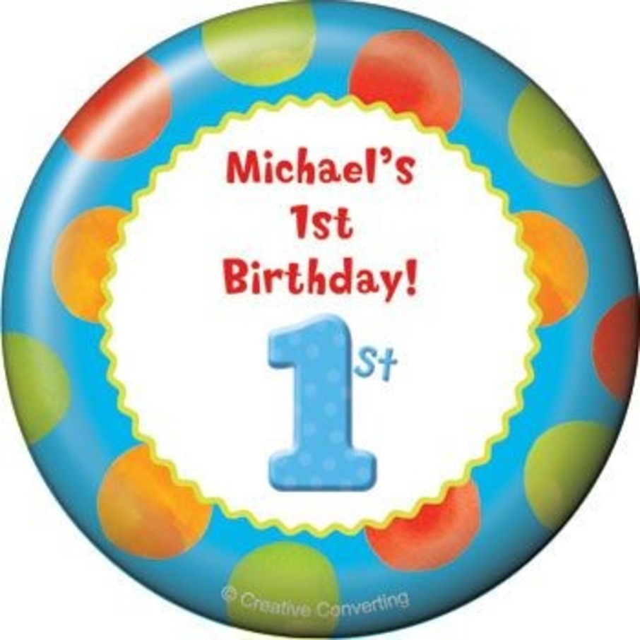 View larger image of Boys' Polka Dot 1st Birthday Personalized Magnet (each)
