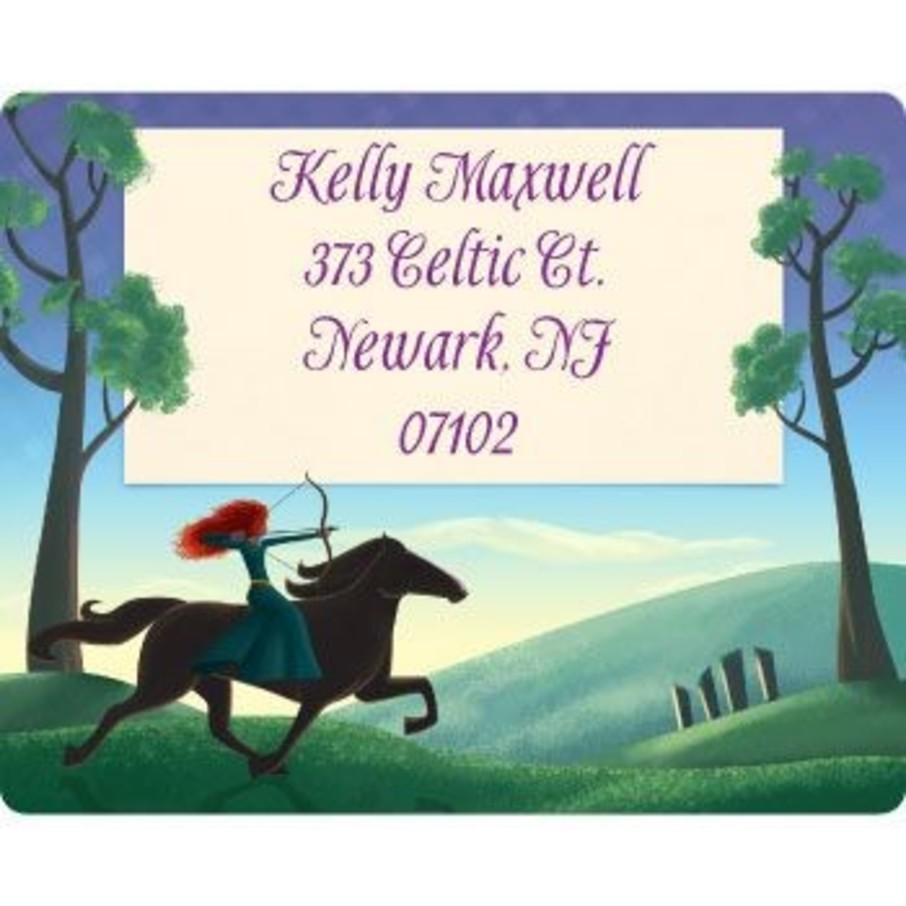 View larger image of Brave Princess Personalized Address Labels (sheet of 15)