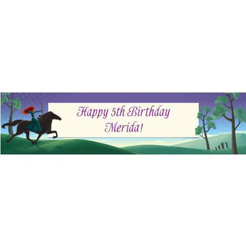 Brave Princess Personalized Banner (each)