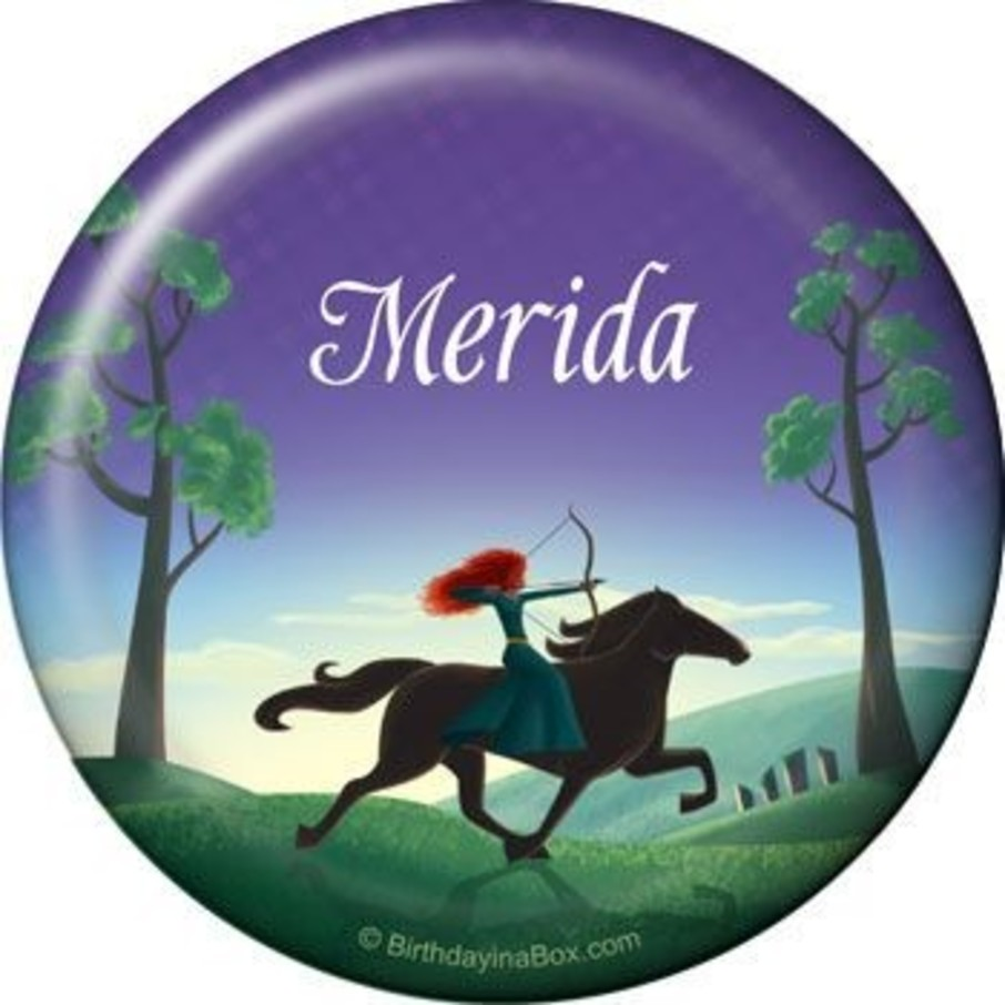 View larger image of Brave Princess Personalized Button (each)
